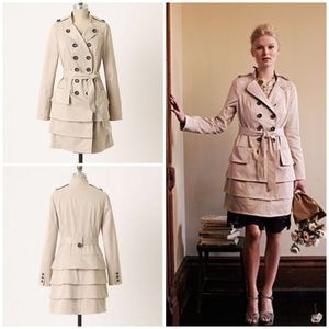 ❌SOLD❌ Anthropologie Two Paths Ruffled Trench Idra
